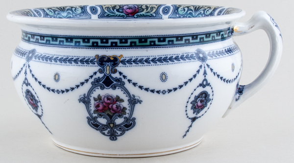 Winkle Kelvin grey with colour Chamber Pot c1915
