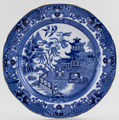 Burleigh Willow Plate c1920s and 1930s