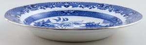 Burgess and Leigh Willow Soup or Pasta Plate c1925
