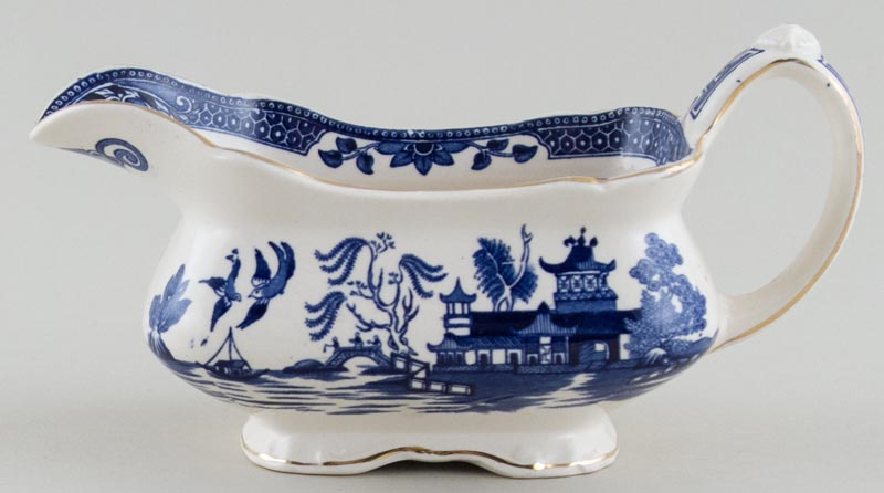 Burgess and Leigh Willow Sauce Boat c1950s