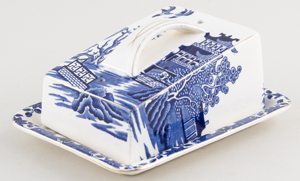 Burgess and Leigh Willow Cheese Dish c1930s
