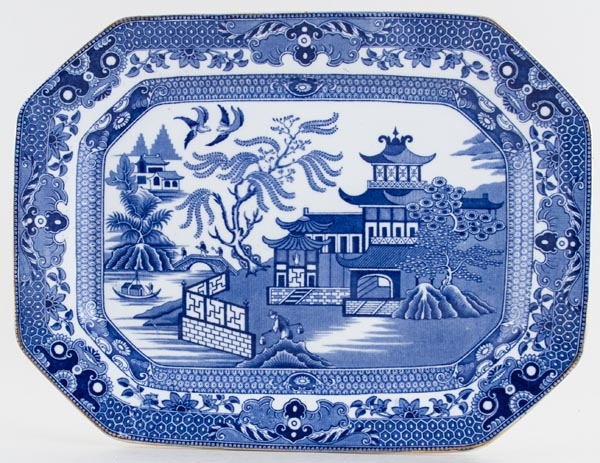 Burgess and Leigh Willow Meat Dish or Platter c1930s