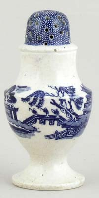 Unattributed Maker Willow Pepper Pot or Shaker c1850