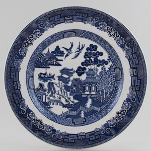 Johnson Bros Willow Plate c1960s