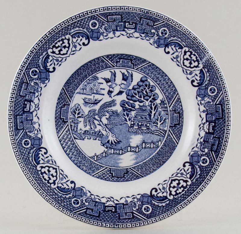 Unattributed Maker Willow Plate c1980s