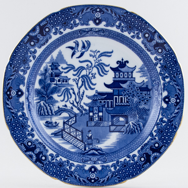 Burgess and Leigh Willow Plate c1925