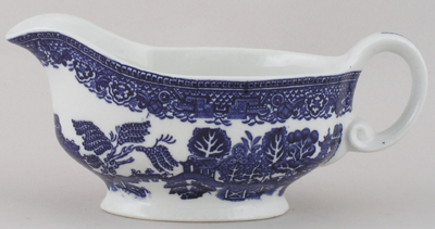 Unattributed Maker Willow Sauce Boat c1950s