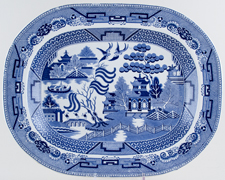 Unattributed Maker Willow Meat Dish or Platter c1840