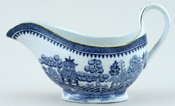 Minton Willow Sauce Boat c1930s