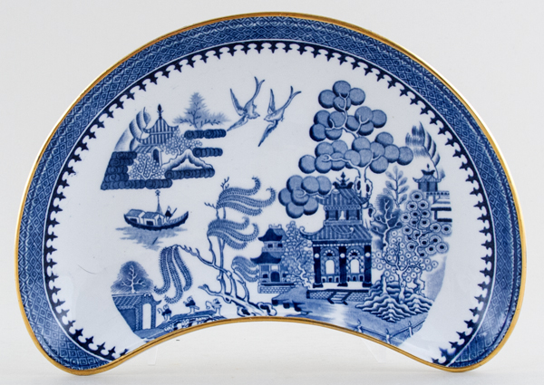 Minton Willow Crescent Side Dish c1920s