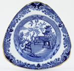 Burleigh Willow Sandwich Plate c1930s