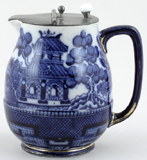 Doulton Willow Hot Water Jug c1900