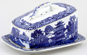 Unattributed Maker Willow Cheese Dish c1930s