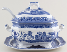 Spode Willow Soup Tureen c2001