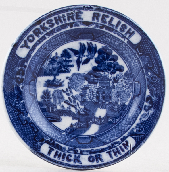 Unattributed Maker Willow Plate Yorkshire Relish c1930s