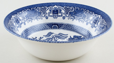 English Ironstone Tableware Willow Bowl c1980