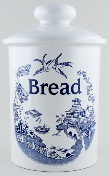 Wain Willow Bread Crock c1990s
