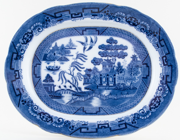 Booths Davenport Willow Meat Dish or Platter c1915