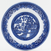 Myott Old Willow Plate c1960s