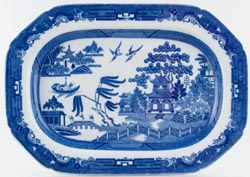 Spode Willow Meat Dish or Platter c1800