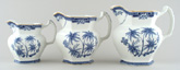 Jugs or Pitchers Set of Three c1930s