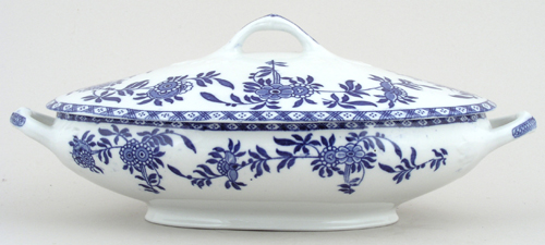Woods Delph Vegetable Dish with Cover c1930s
