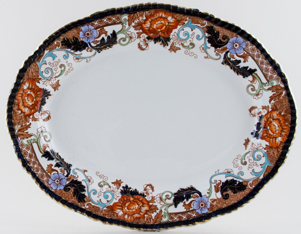 Woods Verona colour Meat Dish or Platter c1923
