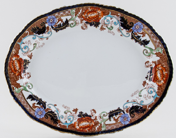 Woods Verona colour Meat Dish or Platter c1920s