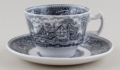 Breakfast Cup and Saucer c1950s