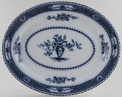 Woods Warwick grey Meat Dish or Platter c1913