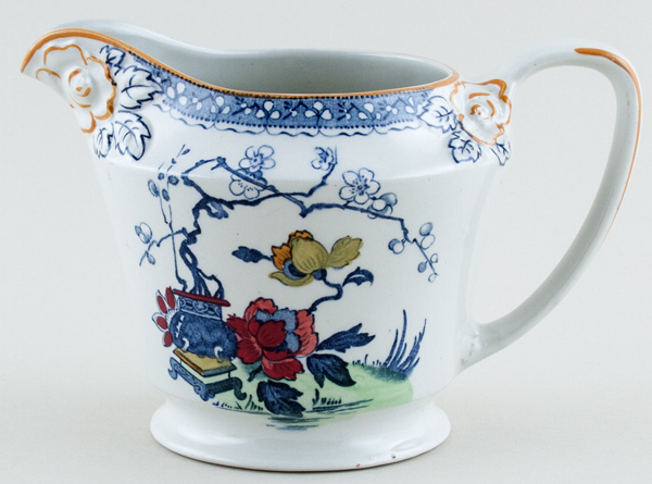 Woods Soo Chow blue with colour Jug or Pitcher c1920s