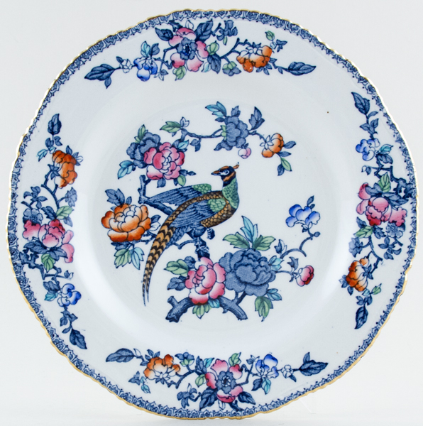 Woods Mayfair blue with colour Plate c1920s