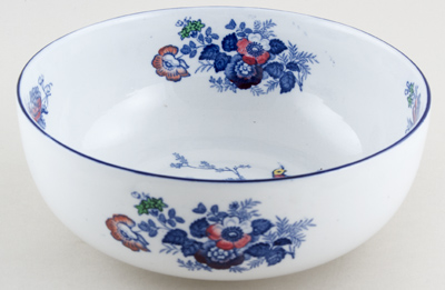 Woods Oriental Birds blue with colour Bowl c1920s