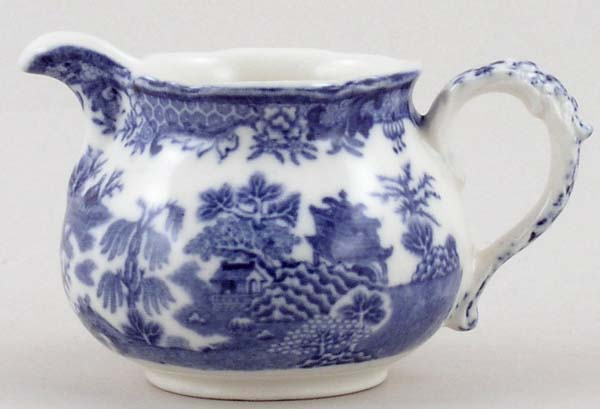 Royal Worcester Worcester Willow Jug or Creamer c1920s