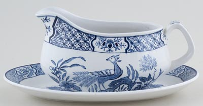 Woods Yuan Sauce Boat with Stand c1950s