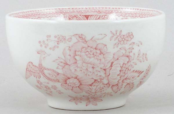 Burleigh Asiatic Pheasants pink Sugar Bowl medium