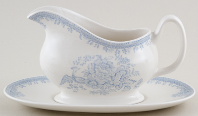 Burleigh Asiatic Pheasants Sauce Boat with Stand