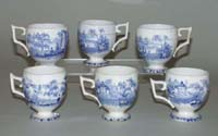 Custard or Syllabub Cups Set of Six c1840