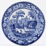 Unattributed Maker Wild Rose Plate c1835