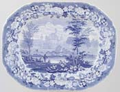 Meat Dish or Platter Kirkstall Abbey c1825