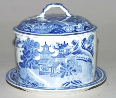 Unattributed Maker Bridge Butter Dish with Cover c1815