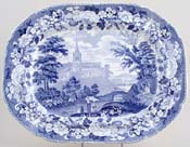 Meat Dish or Platter Cathedral Church of Glasgow c1825