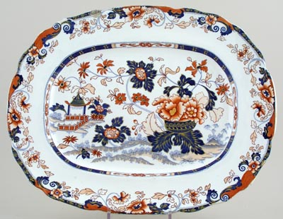 Minton Amherst Japan colour Meat Dish or Platter c1830