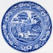 Unattributed Maker Wild Rose Plate c1855