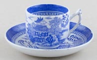 Spode Mandarin Toy Cup and Saucer c1890