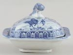 Toy Vegetable Dish with Cover c1825