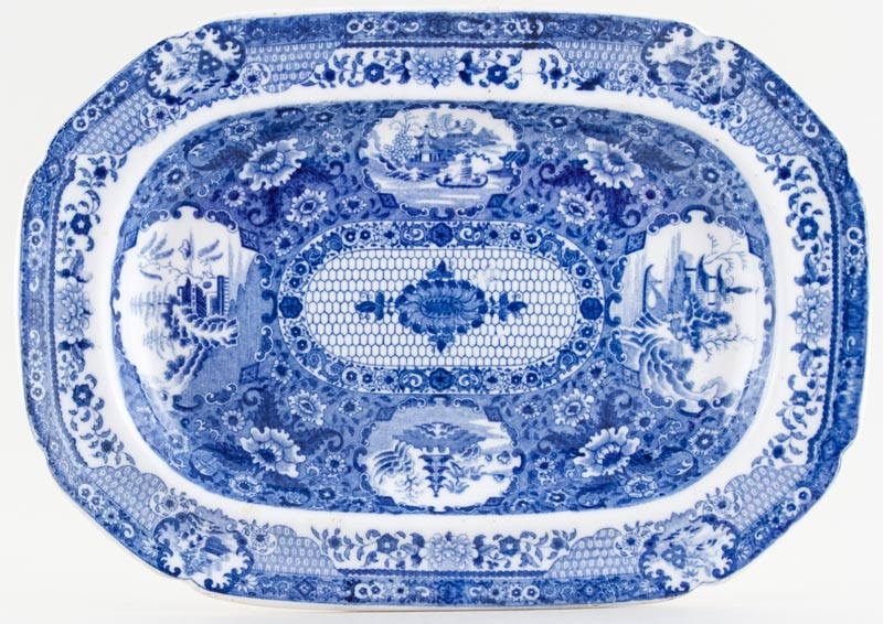 Spode Net Meat Dish or Platter small c1820