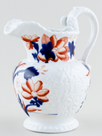 Riley Unidentified Pattern colour Jug or Pitcher c1825