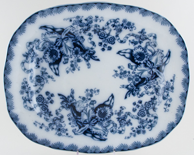 Unattributed Maker Unidentified Pattern Meat Dish or Platter c1850