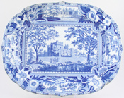 Meat Dish or Platter Raby Castle Durham c1820